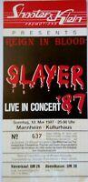 SLAYER Biglietto Concerto/Billet/Concert Ticket - Reign in Blood MANNHEIM 1987