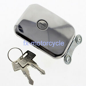 For KZ1300 KZ1100 KZ750R1 KZ440 Fuel Gap Cap 2 X Tank Keys Oil Cover Motorcycle
