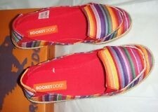 ROCKET DOG 'Clover Paradise' Red stripe cotton/fabric shoes.