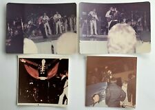 Elvis Presley - 4 Original Concert Photos - 1971 - Black Jumpsuit