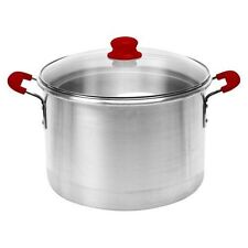 IMUSA 61007 16 Qt Steamer with Red Silicone Handles