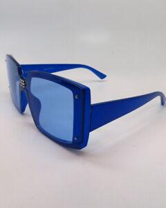 New Authentic Balenciaga BB0081S 003 Blue w/Light Blue Sunglasses 99mm