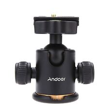 Andoer Camera Tripod Ball Head Ballhead with Quick Release Plate 1/4