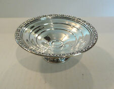 """WALLACE STERLING SILVER 5.5"""" COMPOTE, EMBOSSED ROSES, 95 grams"""