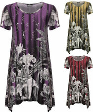 Polyester Crew Neck Short Sleeve Floral T-Shirts for Women