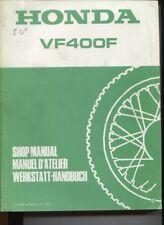 N°8 /  HONDA VF400 F      manuel d'atelier / Shop manual ....1983