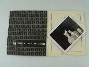 Vintage Original 1963 PLAYBOY CLUB Card, with TWO Bunny B&W PHOTOGRAPH Photo's