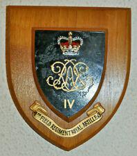 4th Field Regiment Royal Artillery regimental mess wall plaque shield 4