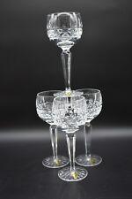 "(4) Waterford Irish Cut Crystal Kylemore 7 5/8"" Wine Hock Glasses (WATKYL)"