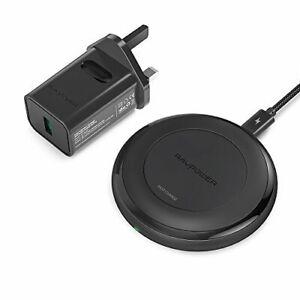 RAVPower Fast Qi Wireless Charger schwarz - ARTIKEL OHNE GEBRAUCHSSPUREN !