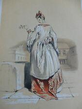 LITHOGRAPHIE FRAGONARD 1840 / LA COURTISANE VENITIENNE XVIIIe