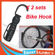 2X Bike Hanger Hook Wall Mounted Bicycle Storage Rack Stand Holder Black 2 AU