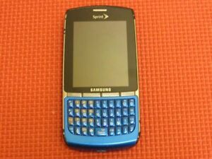 Samsung Replenish SPH-M580 16GB Sprint Wireless Blue/Silver QWERTY Cell Phone