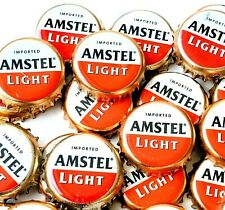 Amstel Light Beer Bottle Caps *Sanitized* Red & White Imported Beer Crown Caps