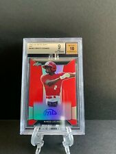 2018 Leaf Metal Draft MARCO LUCIANO Red Prismatic Auto RC 2/5 Giants BGS 9 10