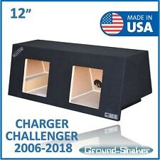 "Dodge Challenger 12"" Dual Sub box Subwoofer Enclosure For Kicker Solo baric 12"""