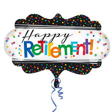 """27"""" Giant Supershape Happy Retirement Foil Helium Balloon Party Decoration"""