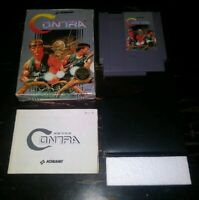 Nintendo NES Contra Complete in Box Tested And Working authentic cib video game