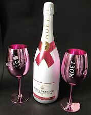 Moet Chandon Ice Imperial Rose Champagner 1,5l Mag. 12% Vol + 2 Rose Glas Gläser