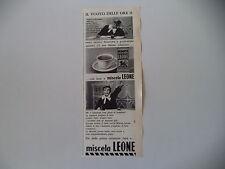 advertising Pubblicità 1963 MISCELA LEONE