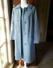 VTG Butte Knit Button Down Coat Suit Dress Set Wool Lite Blue Petite Size 13-14