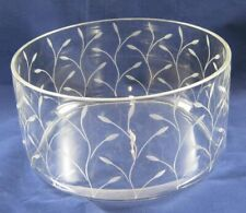 Mouth Glass engraved Fruit Bowl Trifle Dessert Salad Dish Serving