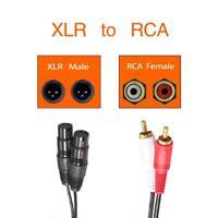1.5M Dual XLR Female To Dual RCA Male Plug Audio Cable Adapter Stereo Hi-Fi