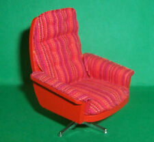 VINTAGE 1970's LUNDBY DOLLS HOUSE RED SWIVEL CHAIR