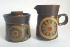 Vintage Denby 'Arabesque' Cream Jug & Lidded Sugar Bowl, by Gill Pemberton