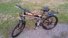 """Ebike ruote 26"""" Mountain Bike elettrica pieghevole 350 W batteria litio"""