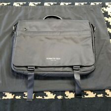 New Kenneth Cole New York Black Laptop, Messenger Bag - Black Lining