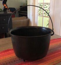 Antique Cast Iron # 6 or 9 Cowboy Cauldron Kettle Bean Pot Gate Mark 3 Leg