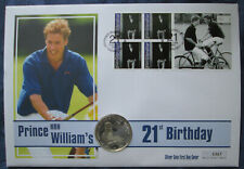 2003 Ghana Silver Proof 500 Sika in FDC, Prince William 21st Birthday
