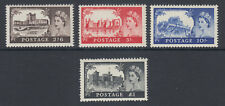 Great Britain Sc 309-312 MNH. 1955 QEII Castles, Waterlow printing, cplt set.