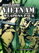 BrickArms Vietnam Weapons Pack Fits Lego Minifigs