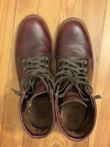 "Men's Chippewa Boots Cordovan - 11 D - Used 1901M25 - 6"" PL Toe - Vibram Sole"