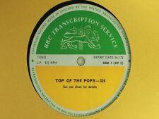 BBC 324 Transcription Disc TOP POPS Live LP T Rex Fleetwood Mac Equals Bronco