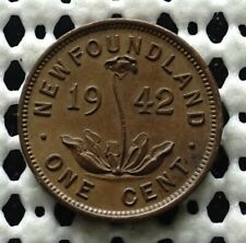 1942c Newfoundland Canada Small Cent Coin ♚ King George VI ♚ Nice Old Penny