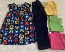 Hanna Andersson 100 Girls 5 Piece Lot Dress/t 00004000 unic Shirts Pants