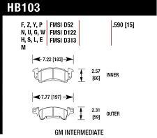 Hawk Performance HB103V.590 Designed For High Deceleration Rates Disc Brake Pads