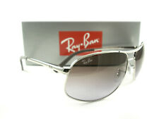 Ray-Ban Sunglasses RB3387 Silver Purple Violet 003/68 New Authentic