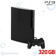 Ps3/Sony PlayStation 3-consola slim 320gb #schwarz + controlador + zub.