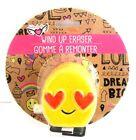 Fashion Angel Wind Up Eraser Emoji Pink Heart Eyes New in Package