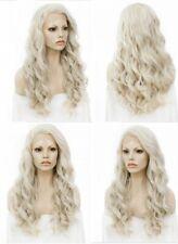 "US 24""  Full Head Wavy Long Lightest Blonde Heat safe Lace front wigs"