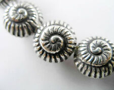 Karen Hill Tribe Silver 2 Nautilus Beads 13 mm.