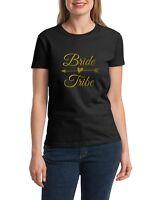 Ladies Bride Tribe Shirt Bridal Party T-Shirt Bachelorette Shirts Wedding Gift