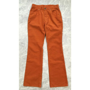 VINTAGE LEE EDWIN CORDUROY FLARE PANTS ORANGE SIZE 31 x 32 MADE IN JAPAN