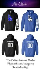 Los Angeles Dodgers Logo Baseball Pullover Hooded Sweatshirt with Custom Name