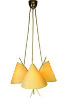 Rupert Nikoll Pendel Leuchte Chinesen Hut Hänge Lampe lindgrün Vintage 50er MCM