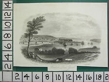 c1830 ANTIQUE PRINT ~ PEMBROKE DOCK YARD ~ WAYMOUTH TREWEEKS